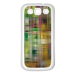 Woven Colorful Abstract Background Of A Tight Weave Pattern Samsung Galaxy S3 Back Case (white)