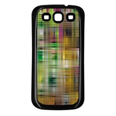 Woven Colorful Abstract Background Of A Tight Weave Pattern Samsung Galaxy S3 Back Case (black)