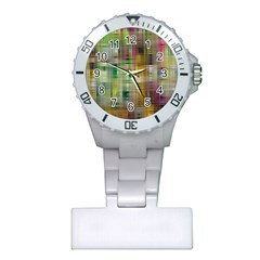 Woven Colorful Abstract Background Of A Tight Weave Pattern Plastic Nurses Watch
