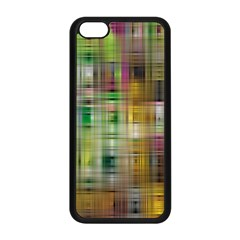 Woven Colorful Abstract Background Of A Tight Weave Pattern Apple Iphone 5c Seamless Case (black)