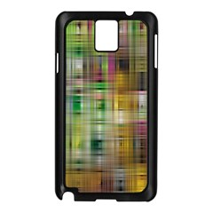Woven Colorful Abstract Background Of A Tight Weave Pattern Samsung Galaxy Note 3 N9005 Case (black)