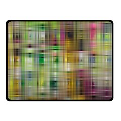 Woven Colorful Abstract Background Of A Tight Weave Pattern Double Sided Fleece Blanket (small)