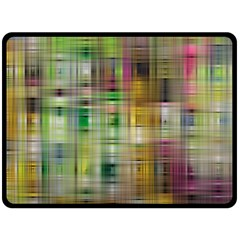 Woven Colorful Abstract Background Of A Tight Weave Pattern Double Sided Fleece Blanket (large)