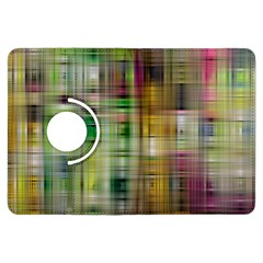 Woven Colorful Abstract Background Of A Tight Weave Pattern Kindle Fire Hdx Flip 360 Case