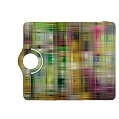 Woven Colorful Abstract Background Of A Tight Weave Pattern Kindle Fire Hdx 8 9  Flip 360 Case