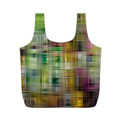 Woven Colorful Abstract Background Of A Tight Weave Pattern Full Print Recycle Bags (m)