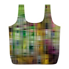Woven Colorful Abstract Background Of A Tight Weave Pattern Full Print Recycle Bags (l)