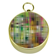 Woven Colorful Abstract Background Of A Tight Weave Pattern Gold Compasses