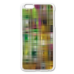 Woven Colorful Abstract Background Of A Tight Weave Pattern Apple Iphone 6 Plus/6s Plus Enamel White Case
