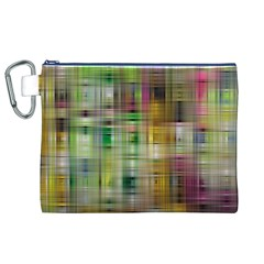 Woven Colorful Abstract Background Of A Tight Weave Pattern Canvas Cosmetic Bag (xl)