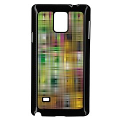 Woven Colorful Abstract Background Of A Tight Weave Pattern Samsung Galaxy Note 4 Case (black)