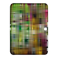 Woven Colorful Abstract Background Of A Tight Weave Pattern Samsung Galaxy Tab 4 (10 1 ) Hardshell Case