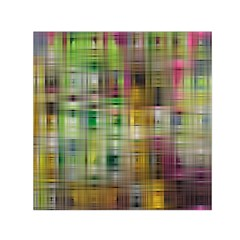 Woven Colorful Abstract Background Of A Tight Weave Pattern Small Satin Scarf (square)