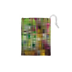 Woven Colorful Abstract Background Of A Tight Weave Pattern Drawstring Pouches (xs)