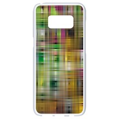 Woven Colorful Abstract Background Of A Tight Weave Pattern Samsung Galaxy S8 White Seamless Case