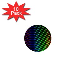 Digitally Created Halftone Dots Abstract 1  Mini Buttons (10 Pack)