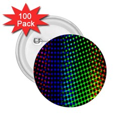 Digitally Created Halftone Dots Abstract 2 25  Buttons (100 Pack)