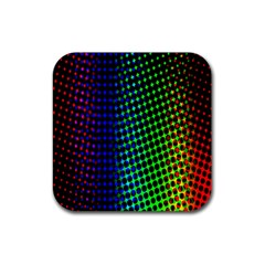 Digitally Created Halftone Dots Abstract Rubber Square Coaster (4 Pack)