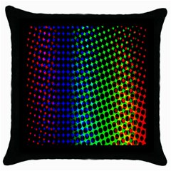 Digitally Created Halftone Dots Abstract Throw Pillow Case (black)