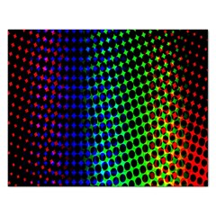 Digitally Created Halftone Dots Abstract Rectangular Jigsaw Puzzl