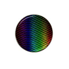 Digitally Created Halftone Dots Abstract Hat Clip Ball Marker (4 Pack)