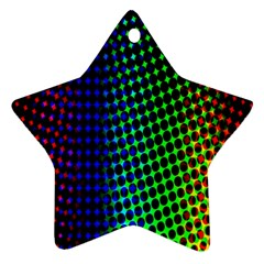 Digitally Created Halftone Dots Abstract Star Ornament (two Sides)