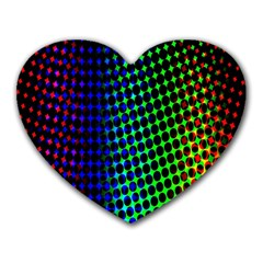 Digitally Created Halftone Dots Abstract Heart Mousepads