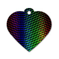 Digitally Created Halftone Dots Abstract Dog Tag Heart (two Sides)