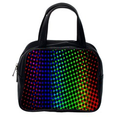 Digitally Created Halftone Dots Abstract Classic Handbags (one Side)