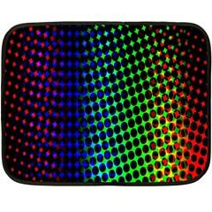 Digitally Created Halftone Dots Abstract Double Sided Fleece Blanket (mini)