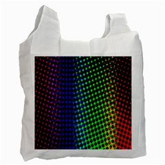 Digitally Created Halftone Dots Abstract Recycle Bag (two Side)