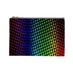 Digitally Created Halftone Dots Abstract Cosmetic Bag (large)