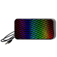 Digitally Created Halftone Dots Abstract Portable Speaker (black)