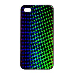 Digitally Created Halftone Dots Abstract Apple Iphone 4/4s Seamless Case (black)