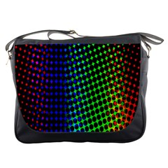 Digitally Created Halftone Dots Abstract Messenger Bags