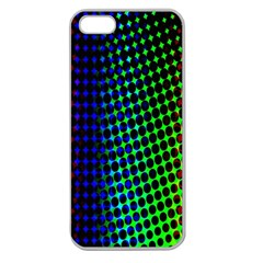 Digitally Created Halftone Dots Abstract Apple Seamless Iphone 5 Case (clear)