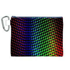 Digitally Created Halftone Dots Abstract Canvas Cosmetic Bag (xl)