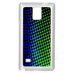 Digitally Created Halftone Dots Abstract Samsung Galaxy Note 4 Case (white)