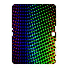 Digitally Created Halftone Dots Abstract Samsung Galaxy Tab 4 (10 1 ) Hardshell Case