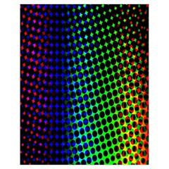 Digitally Created Halftone Dots Abstract Drawstring Bag (small)