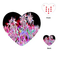 Fractal Fireworks Display Pattern Playing Cards (heart)