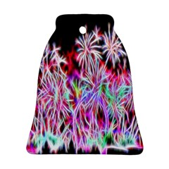 Fractal Fireworks Display Pattern Ornament (bell)