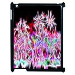 Fractal Fireworks Display Pattern Apple Ipad 2 Case (black)