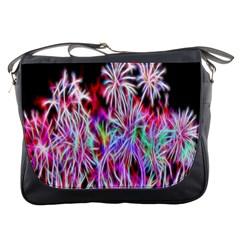 Fractal Fireworks Display Pattern Messenger Bags