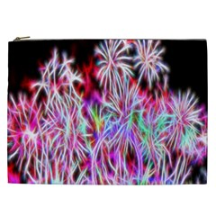Fractal Fireworks Display Pattern Cosmetic Bag (xxl)