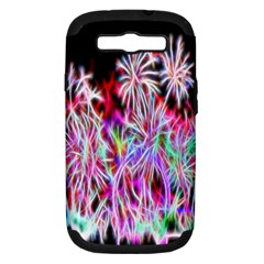 Fractal Fireworks Display Pattern Samsung Galaxy S Iii Hardshell Case (pc+silicone)