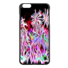 Fractal Fireworks Display Pattern Apple Iphone 6 Plus/6s Plus Black Enamel Case