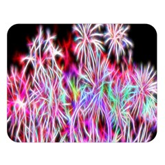 Fractal Fireworks Display Pattern Double Sided Flano Blanket (large)