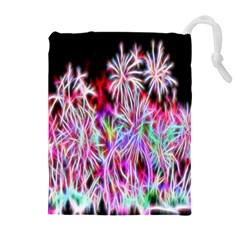 Fractal Fireworks Display Pattern Drawstring Pouches (extra Large)