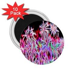 Fractal Fireworks Display Pattern 2 25  Magnets (10 Pack)